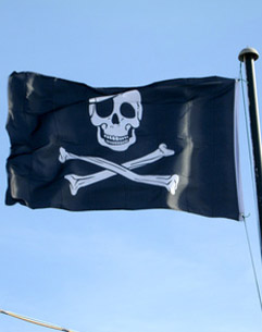 Pirate Flag Flying